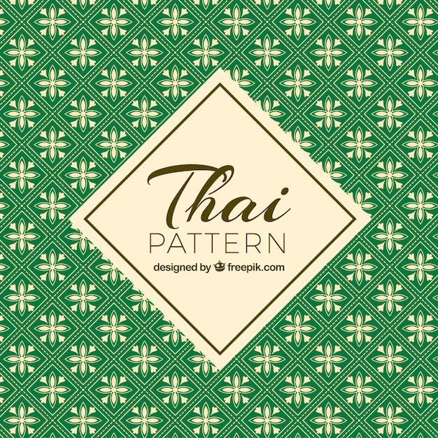 Padrão tailandês verde com estilo elegante Vetor grátis