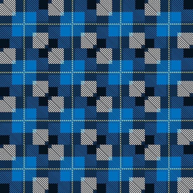 Padrão tartan sem emenda. desenho geométrico de moda. textura tecida escocesa. Vetor Premium