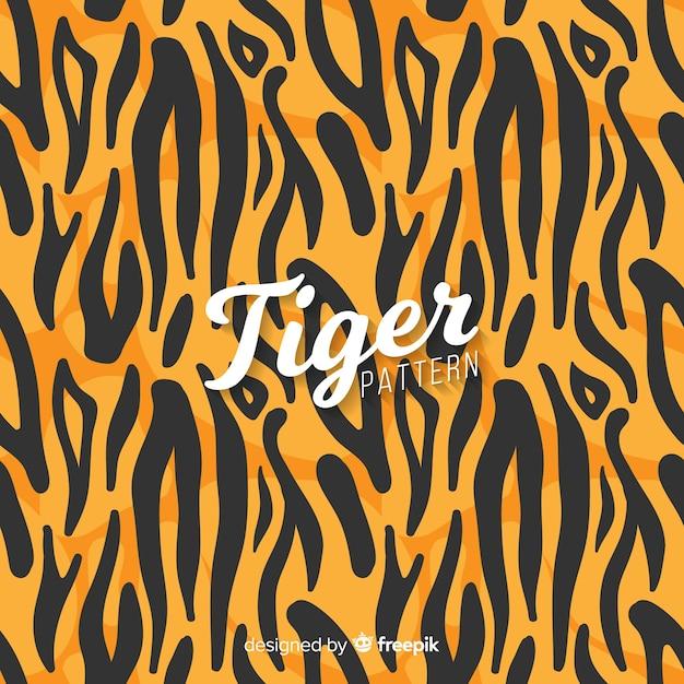 Padrão tigre Vetor grátis