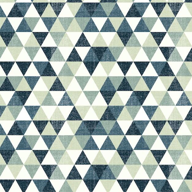 Padrão triangular verde Vetor grátis