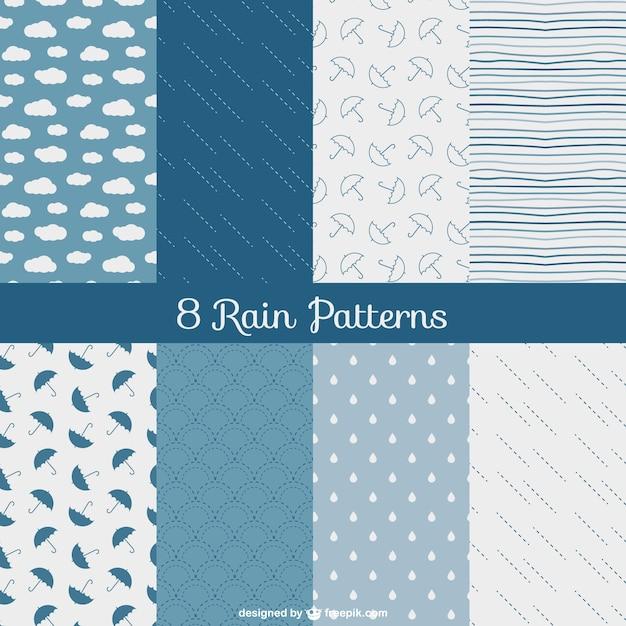 Padrões de chuva embalar Vetor grátis