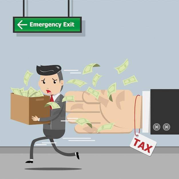 Pagamento de imposto, tributação de governo estatal, cálculo de imposto para tempo de imposto Vetor Premium