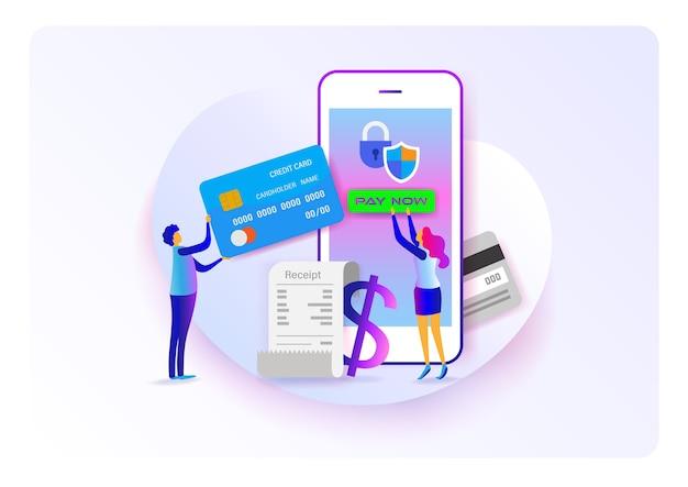 Pagamento online Vetor Premium