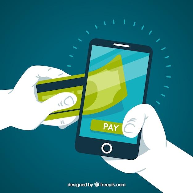 Pagamento via celular Vetor grátis