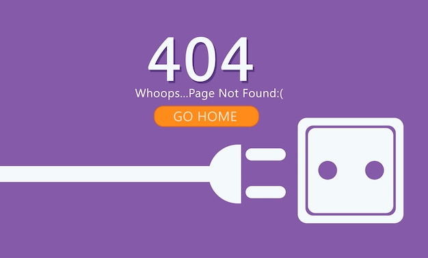 Page 404 não encontrado Vetor grátis