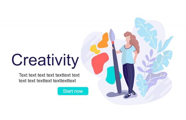 Página de destino da criatividade do conceito Vetor Premium