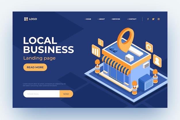 Página de destino da empresa local Vetor grátis