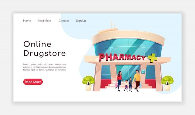 Página de destino da farmácia on-line Vetor Premium