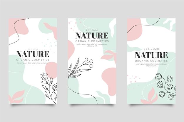 Página de destino da natureza Vetor Premium