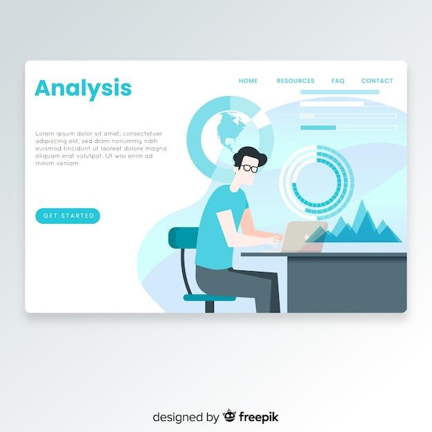 Página de destino de análise de negócios Vetor grátis