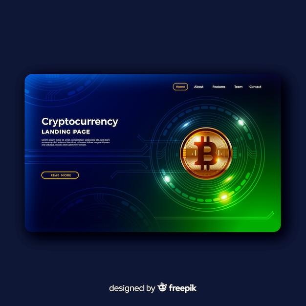 Página de destino de criptografia Vetor grátis