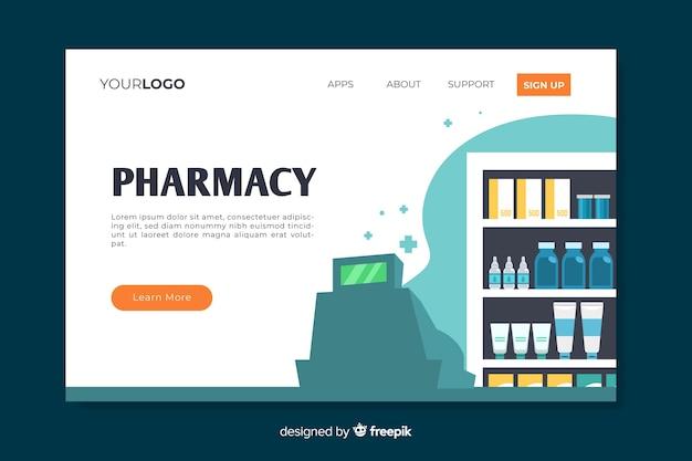 Página de destino de farmácia colorida Vetor grátis