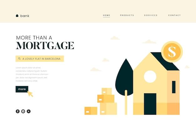 Página de destino de hipoteca Vetor grátis