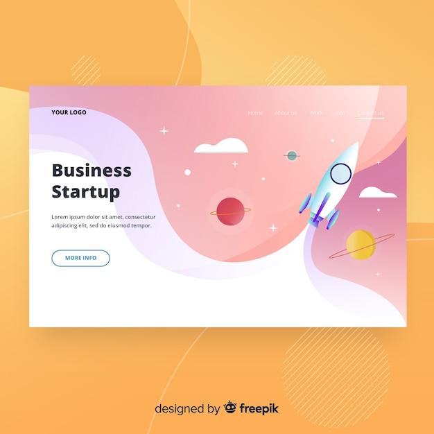 Página de destino de inicialização de negócios Vetor grátis