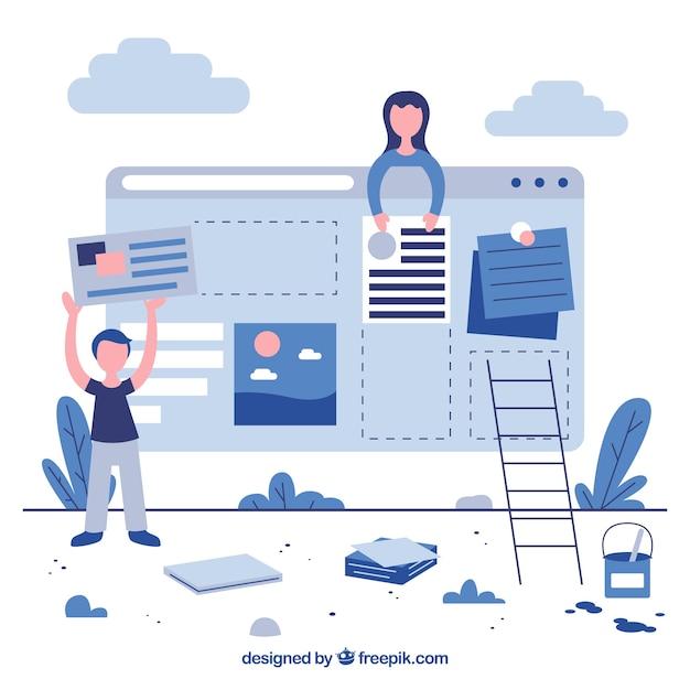 Página de destino de negócios em design plano Vetor grátis