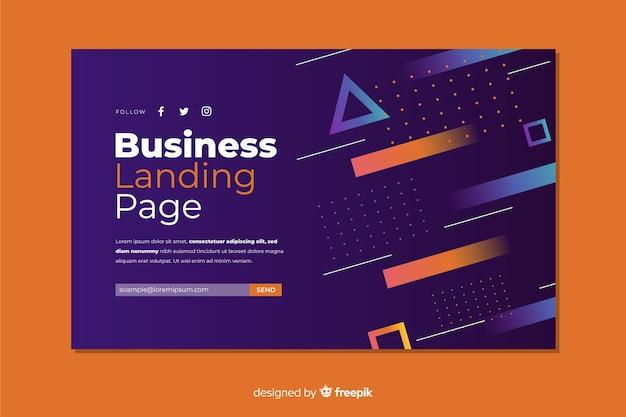 Página de destino de negócios Vetor grátis
