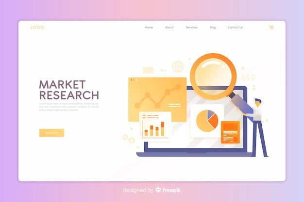 Página de destino de pesquisa de mercado Vetor grátis