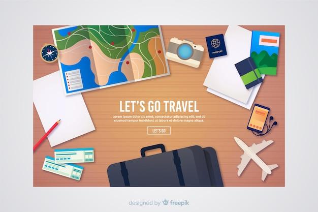 Página de destino de viagens Vetor grátis