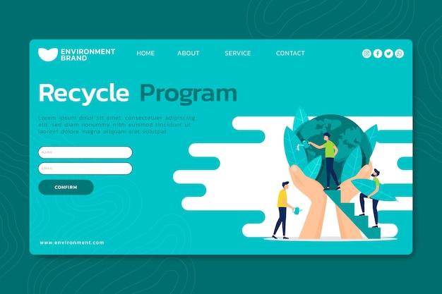 Página de destino do ambiente ambiental Vetor Premium