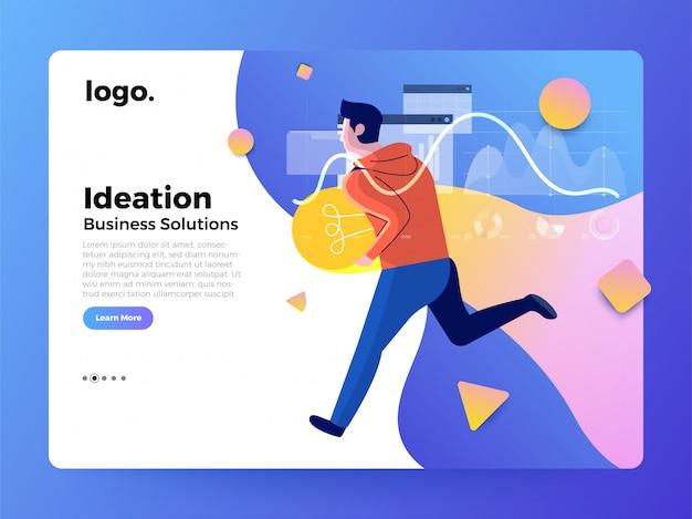 Página de destino do conceito de trabalhador de ilustrações Vetor Premium