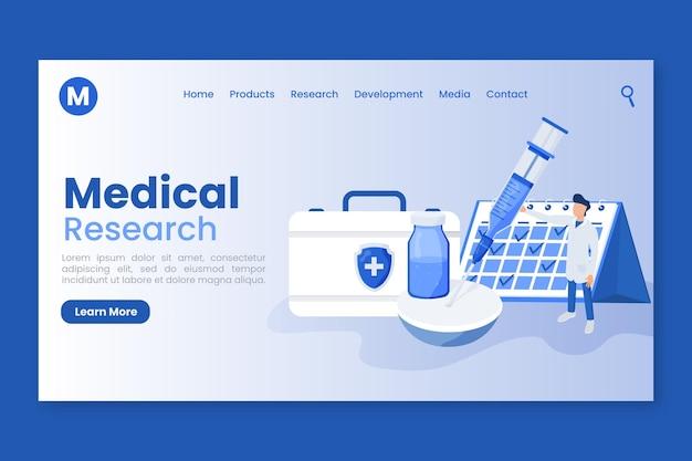 Página de destino do desenvolvimento da vacina Vetor Premium