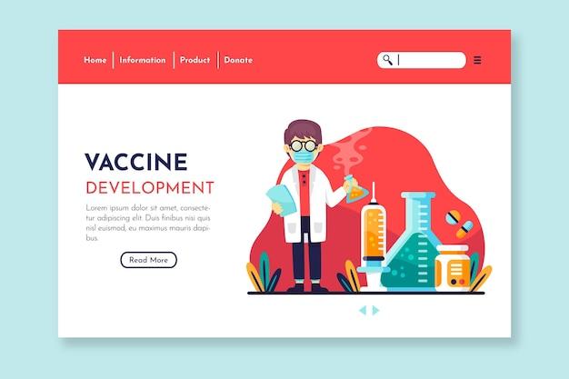 Página de destino do desenvolvimento da vacina Vetor grátis