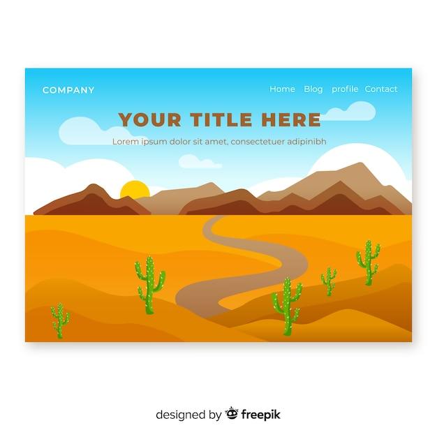 Página de destino do deserto Vetor grátis