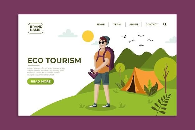 Página de destino do ecoturismo Vetor grátis