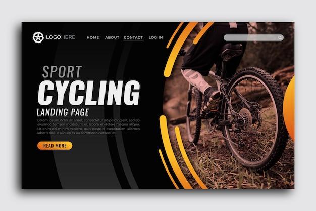 Página de destino do esporte com foto Vetor grátis