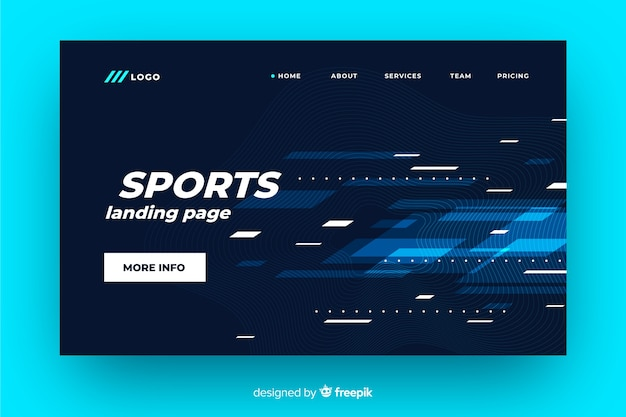 Página de destino do esporte futurista Vetor grátis