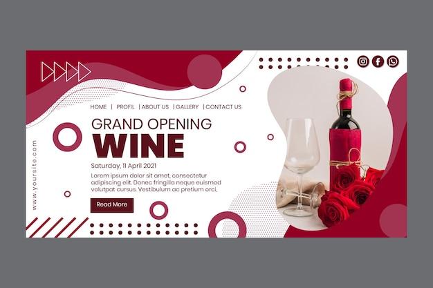 Página de destino do grande festival do vinho Vetor grátis