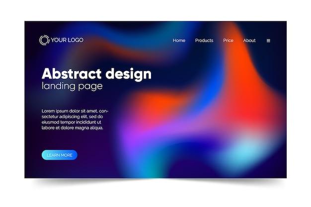 Página de destino do modelo de ilusão colorida abstrata Vetor grátis