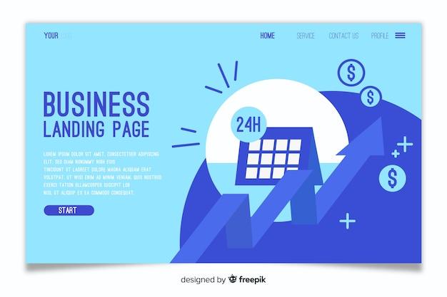 Página de destino do modelo de negócios Vetor grátis