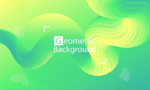 Página de destino do site. fundo abstrato verde. Vetor Premium