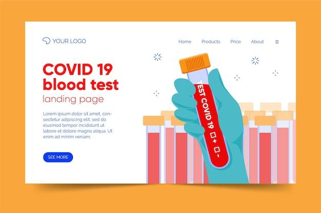 Página de destino do teste covid-19 Vetor Premium