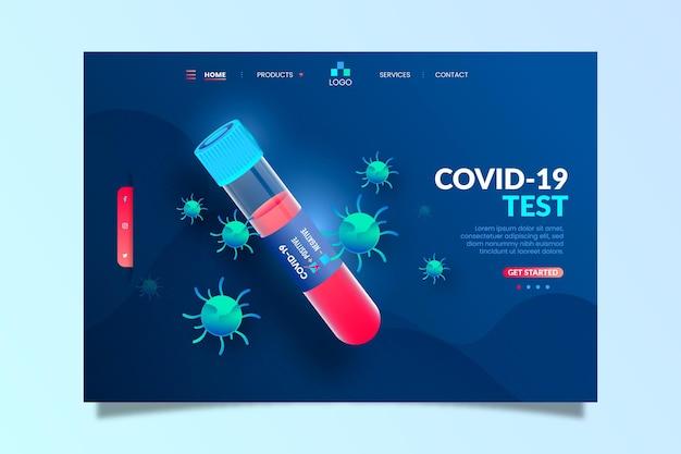 Página de destino do teste covid-19 Vetor grátis