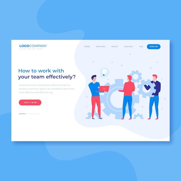 Página de destino do trabalho em equipe brainstorm Vetor Premium