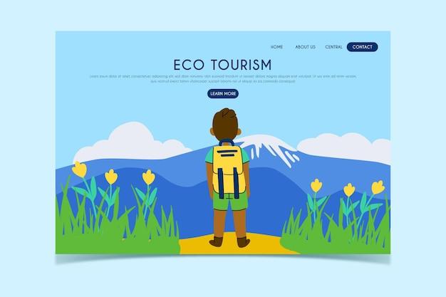 Página de destino do turismo ecológico Vetor grátis