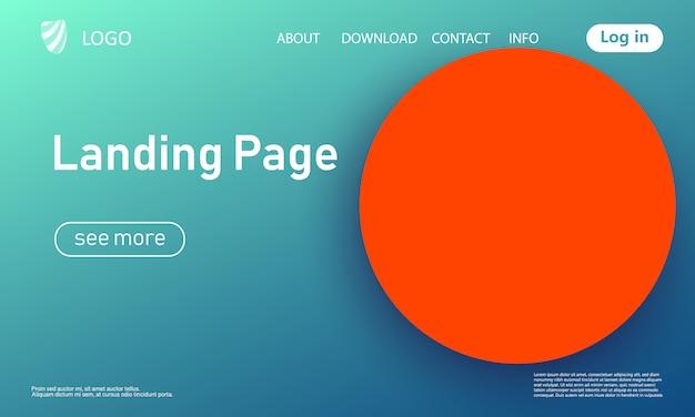 Página de destino. fundo geométrico. cobertura abstrata mínima. papel de parede colorido criativo. cartaz gradiente da moda. ilustração. Vetor Premium