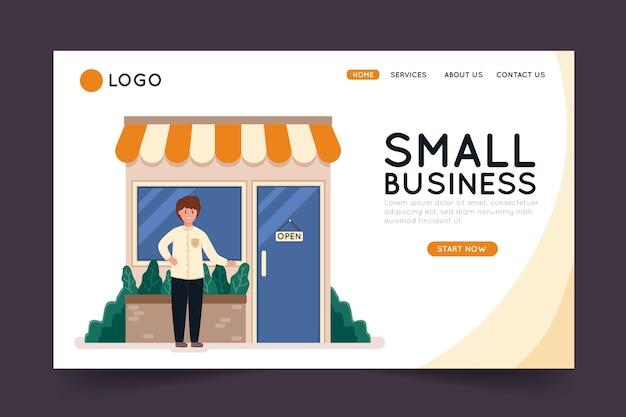 Página de destino para pequenas empresas Vetor grátis