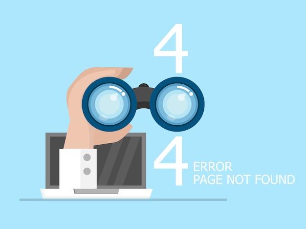 Página de erro 404 não encontrada ilustração design plano Vetor Premium