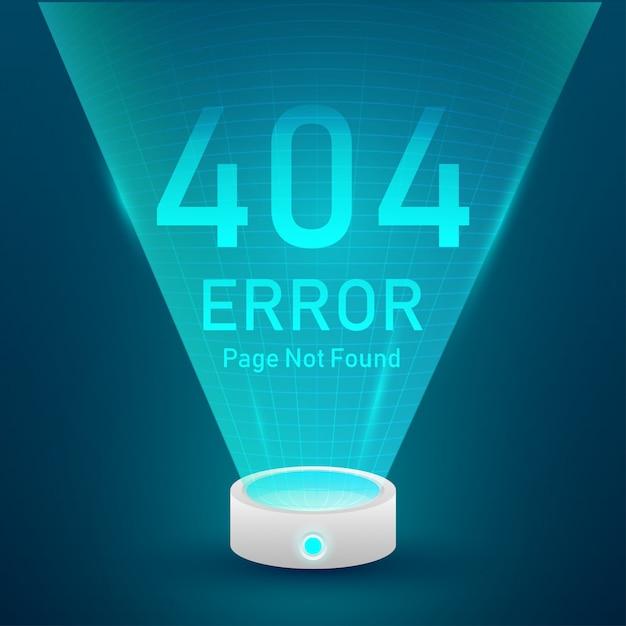 Página de erro 404 não encontrada Vetor Premium
