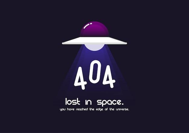 Página de erro 404 Vetor Premium