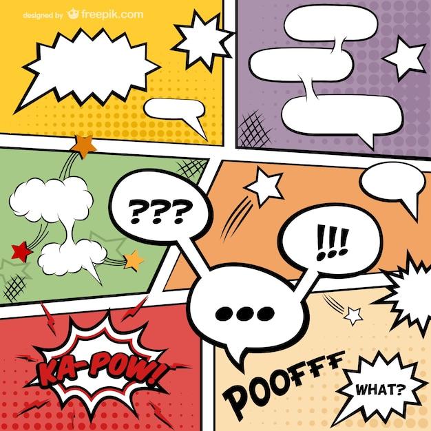 Página de quadrinhos vetor download gratuito Vetor grátis