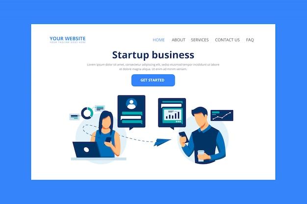 Página inicial da empresa Vetor Premium