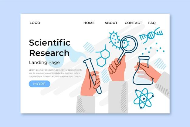 Página inicial da pesquisa científica Vetor grátis