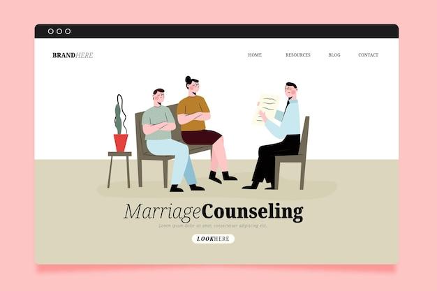 Página inicial de aconselhamento matrimonial Vetor grátis