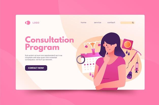 Página inicial de contraceptivos femininos Vetor grátis