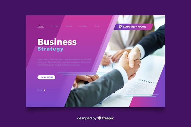 Página inicial de negócios com imagem Vetor grátis
