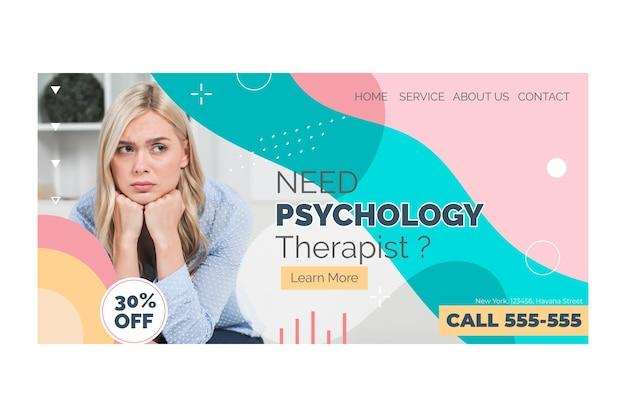 Página inicial de psicologia Vetor grátis